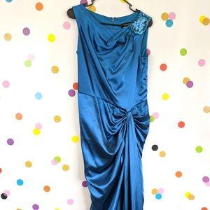 Tadashi Shoji Ruched Evening Dress